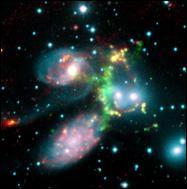 Colisión intergalactica