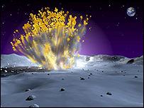Explosión en la Luna
