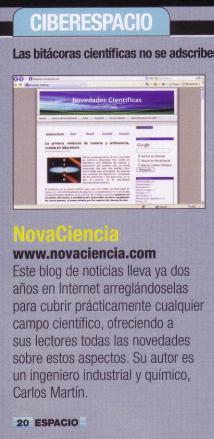 NovaCiencia en revista Espacio